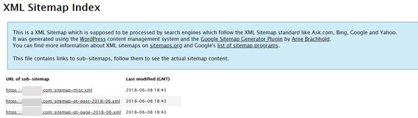 XMLサイトマップファイル