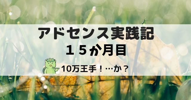 アドセンス実践記15か月目